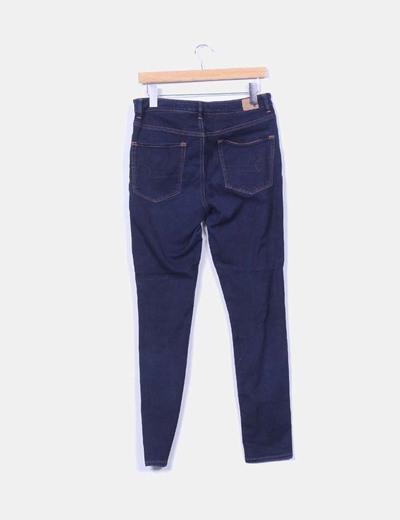 Pantalon elastico efecto vaquero