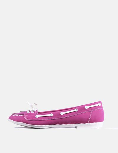 Zapato plano fúcsia Buonarotti