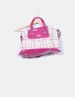 Bolso bowling combinado charol rosa Coach