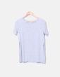Camiseta gris lisa manga corta H&M