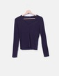 Top avec encolure en tricot v violette Hugo Boss