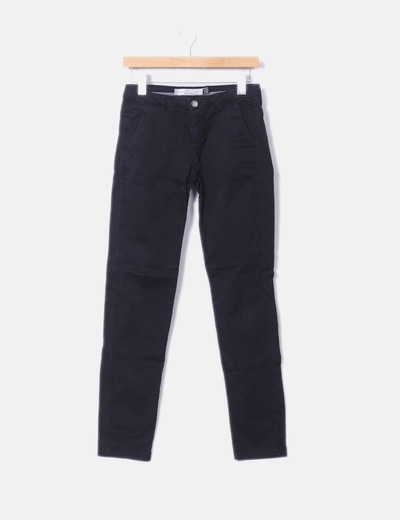 Pantaloni chino neri Bershka