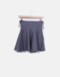 Mini falda tricot gris evasé Zara