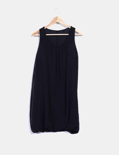 Vestido negro de gasa NoName