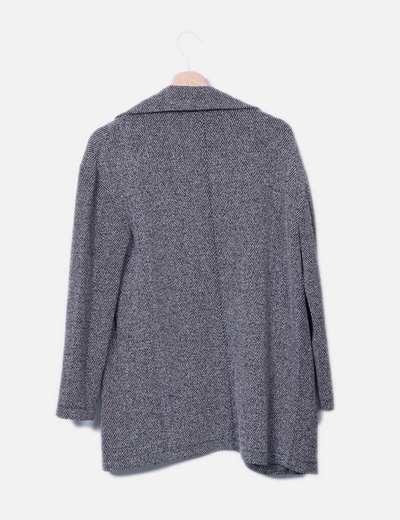 Chaqueta tricot negro jaspeado