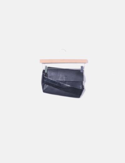Bolso de mano negro combinado Zara