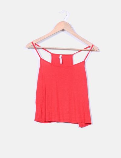 f7b13515422 Fishbone Top rojo tirantes (descuento 90%) - Micolet