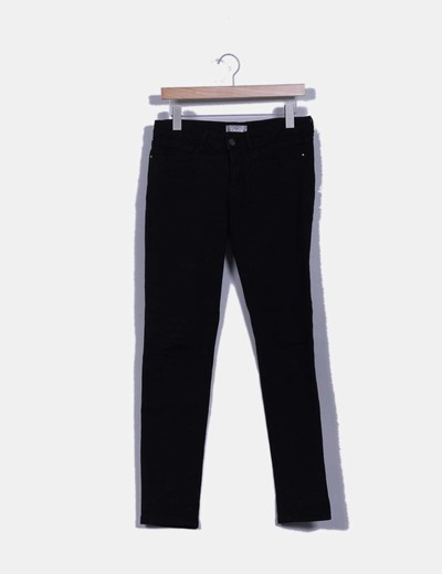 Pantalón negro texturizado Springfield