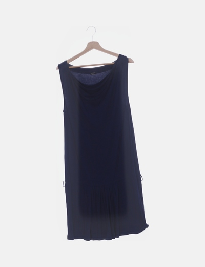 Vestido azul marino fluido