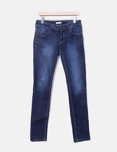 Pantalón azul marino efecto desgastado