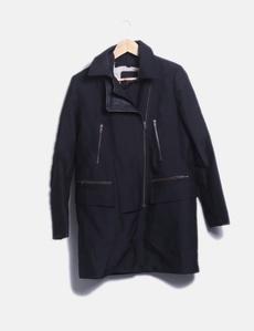 e8665967df2 Abrigo negro borreguito interior Promod