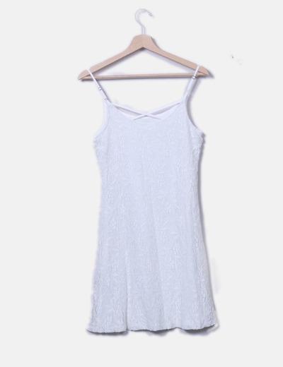 nueva productos calientes nueva colección ropa deportiva de alto rendimiento Vestido blanco encaje