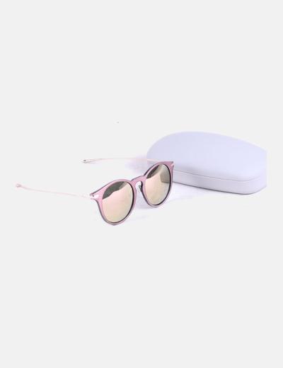 Zara Quadro cor-de-rosa dos óculos de sol com cristais metálicos (desconto  de 73%) - Micolet 629d69d9f7
