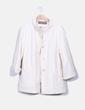 Abrigo blanco texturizado Zara