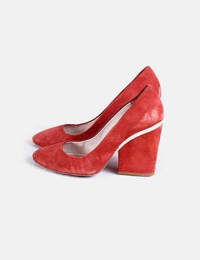 Zapato tacón naranja Uterqüe