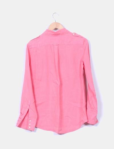 Camisa rosa de lino
