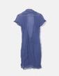 Vestido azul de gasa Oro Pagoda