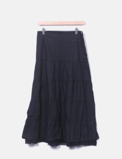 Falda midi negra NoName
