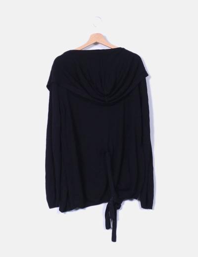 Cardigan negro con cinturon