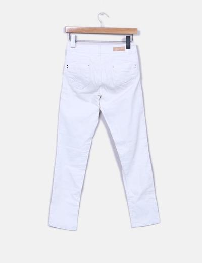 Jeans denim slim fit blanco