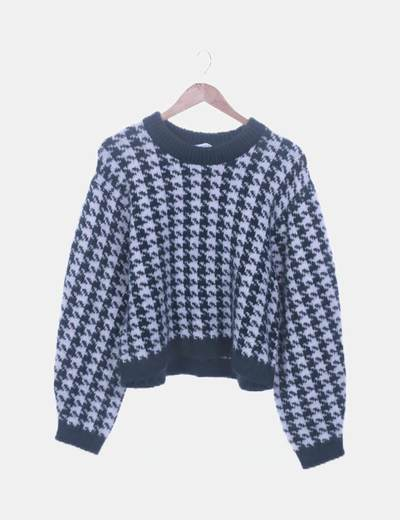 Jersey de lana bicolor