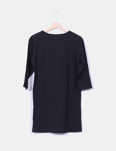Vestido negro detalle cremallera