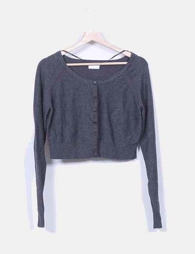 Chaqueta tricot mini gris marengo Vero Moda