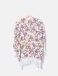 Chaqueta fluida floral con flecos Zara
