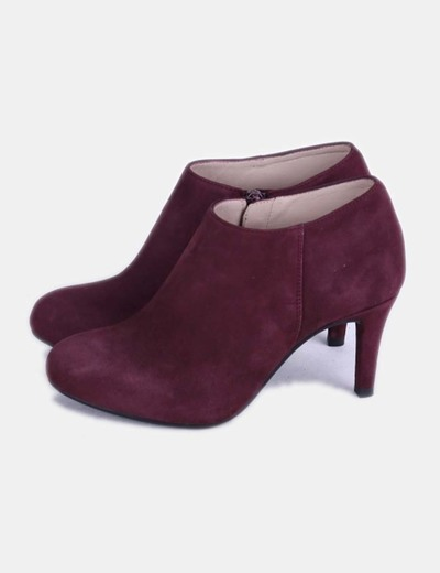Bottines grenat Unisa