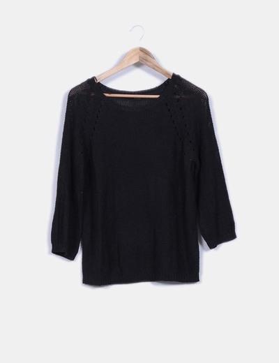 Jersey negro punto  H&M