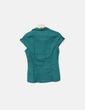 Camisa fluida verde sem mangas Topshop