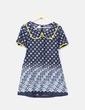 Vestido school estampado azul marino Divina Providencia