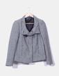 Chaqueta tweed bicolor Zara