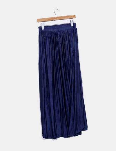 Falda maxi azul marina