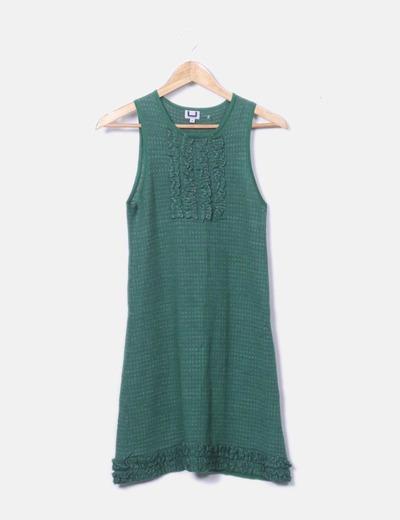 Vestido pichi tricot verde
