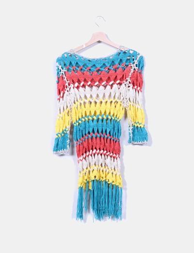 Jersey trenzado multicolor