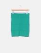 Mini falda verde elástica Stradivarius