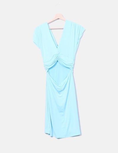 Vestido Azul Celeste Licra