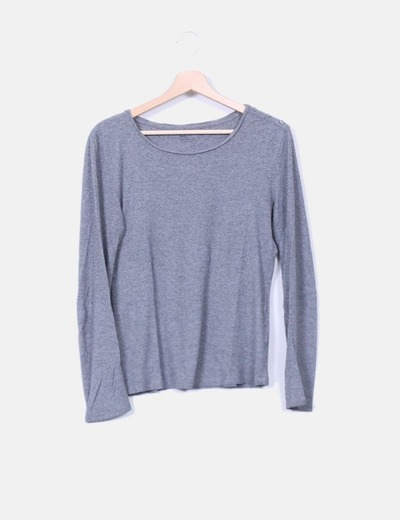 Camiseta básica algodón gris  Tex Woman