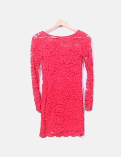 08d38ff75961 Vestido rojo encaje