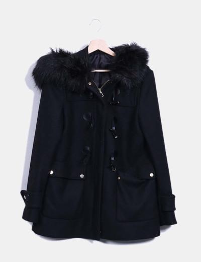 Detalle Negra Capucha Zara Trenca Pelo En T1fPxqnwg