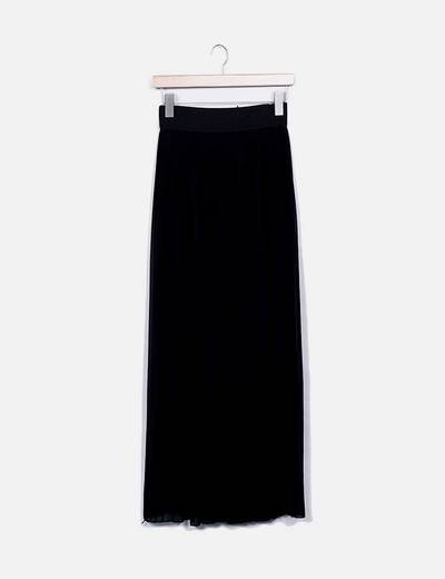 Falda plisada negra NoName