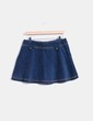 Mini falda terciopelo azul petróleo Sfera