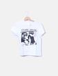 T-shirt blanc imprimé partenaire NoName