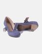 Zapato azul con hebilla Graceland
