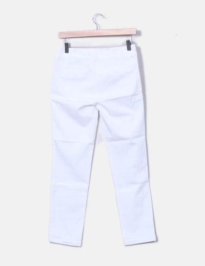 gran selección de fd557 856b1 Pantalón blanco tiro alto