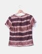 Camiseta marrón rayas texturizada Adolfo Dominguez