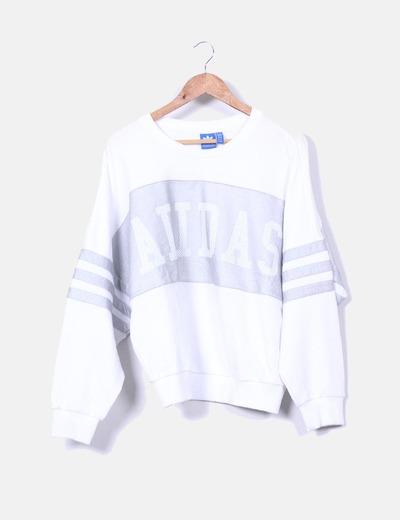 venta caliente online be510 9565f Sudadera blanca texturizada ADIDAS