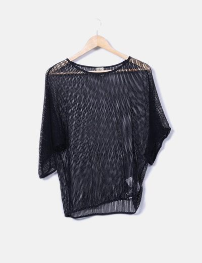Top tricot negro