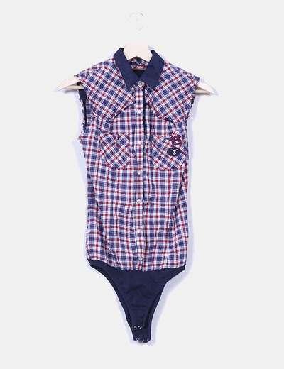 Camisa cuadros con body Zara
